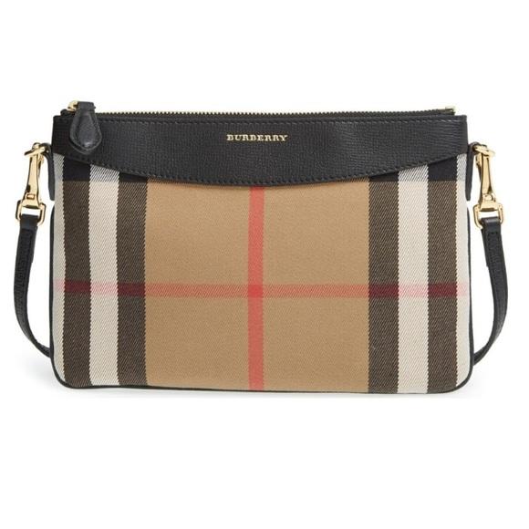 Burberry Handbags - EUC Burberry house check Peyton cross body bag f1a9d68bff653